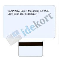 ISO PROX9 kort Magnet Stribe 2750 Oe Cross Point kode og nummer