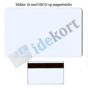 Mifare 1k med HICO og magnetstribe