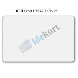 RFID kort EM 4200 Hvid