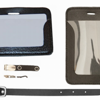 Kortholdere og clips i læder