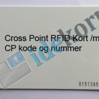 Cross Point RFID kort med cp code og nummer