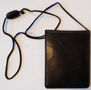 Dobbelt læder ID-kortholder med break-away