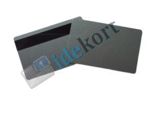 blanke plastikkort - Sølv med magnetstribe - Hico