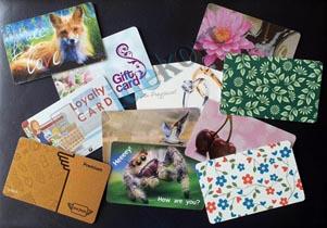 Offsettryke-kort plastikkort