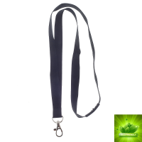 Lanyard ECO 15mm m krog, SORT
